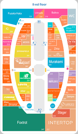 Mall Map floor two
